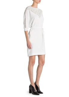 Stella McCartney Stretch-Cady Belted Sheath Dress