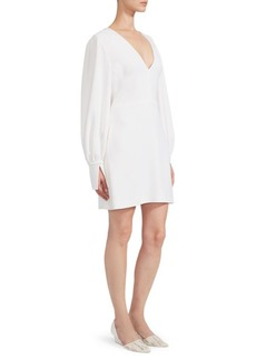 Stella McCartney Stretch Cady Poet-Sleeve Dress
