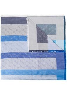 Stella McCartney striped logo scarf