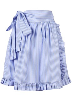 Stella McCartney striped ruffle-trimmed skirt
