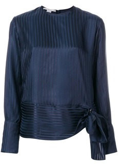 Stella McCartney striped tie front blouse