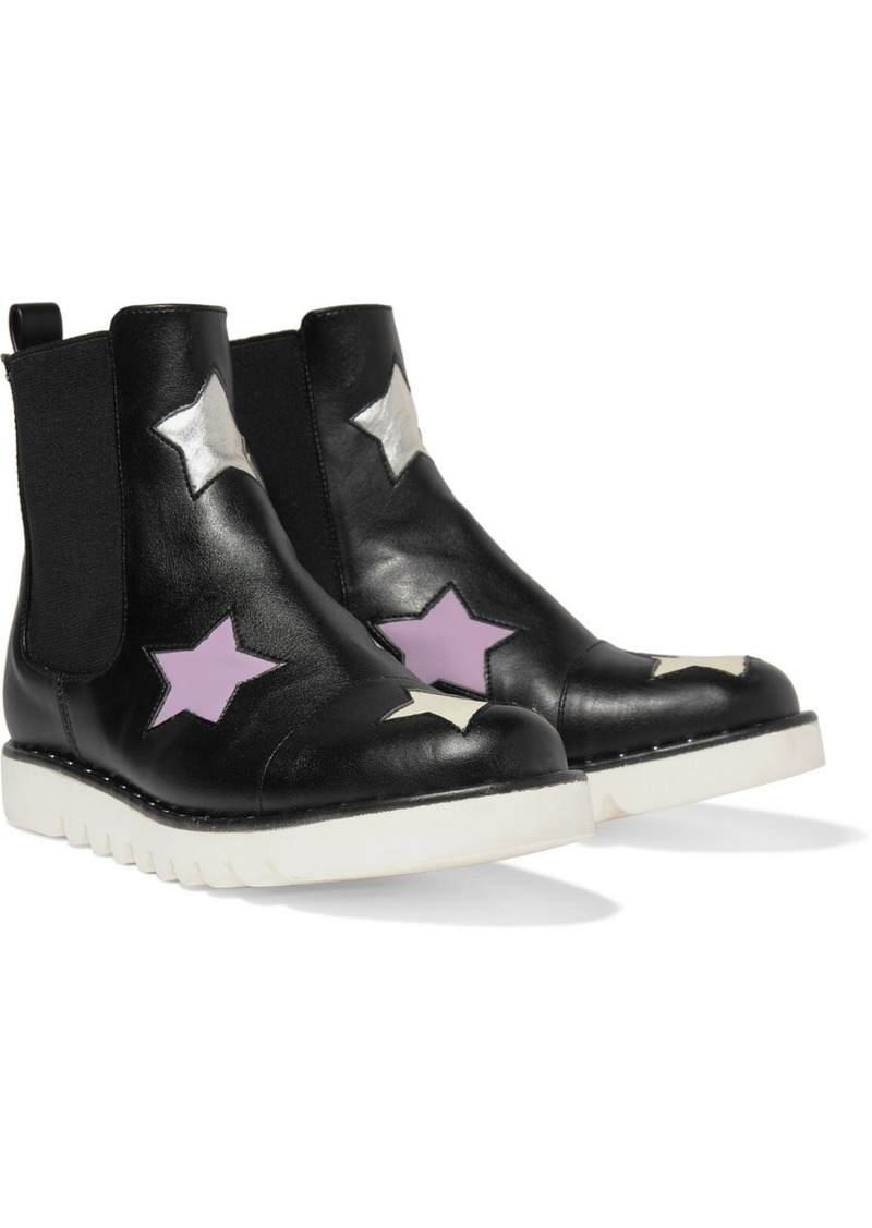 Stella McCartney Studded Metallic-trimmed Faux Leather Chelsea Boots