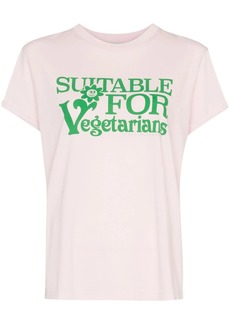 Stella McCartney Suitable For Vegetarians print T-shirt