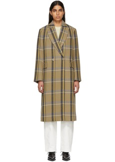Stella McCartney Tan Check Oversized Coat