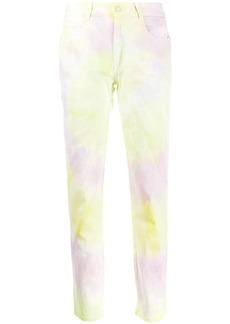 Stella McCartney tie-dye skinny boyfriend jeans