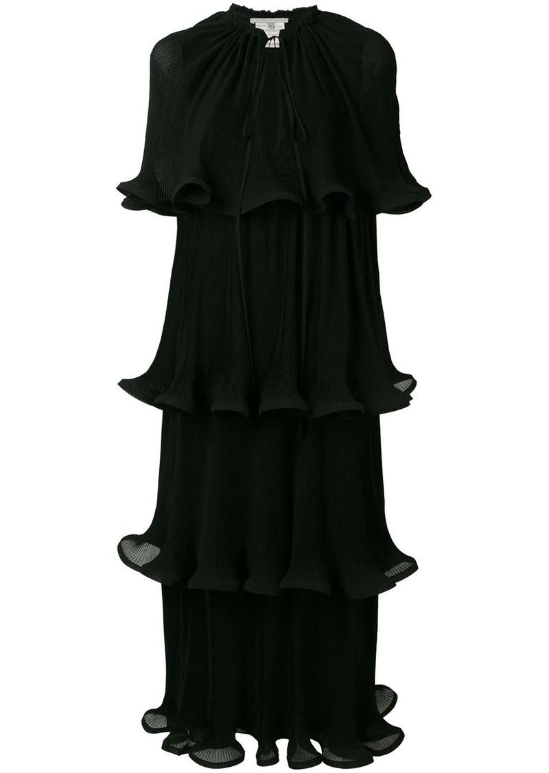 Stella McCartney tiered lettuce-hem dress