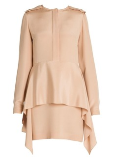 Stella McCartney Silk Tiered Skirt Shirtdress