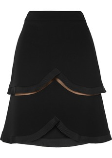 Stella McCartney Tiered Tulle-trimmed Cady Skirt