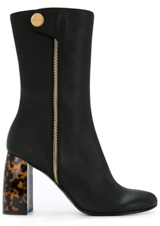 Stella McCartney Tortoiseshell-heel boots