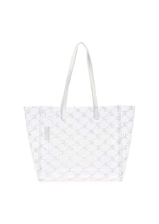 Stella McCartney transparent logo print PVC tote bag