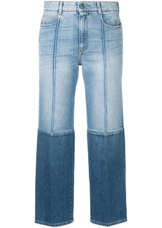 Stella McCartney two-tone cropped jeans