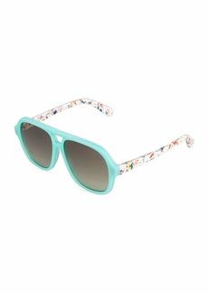 Stella McCartney Two-Tone Square Plastic Sunglasses