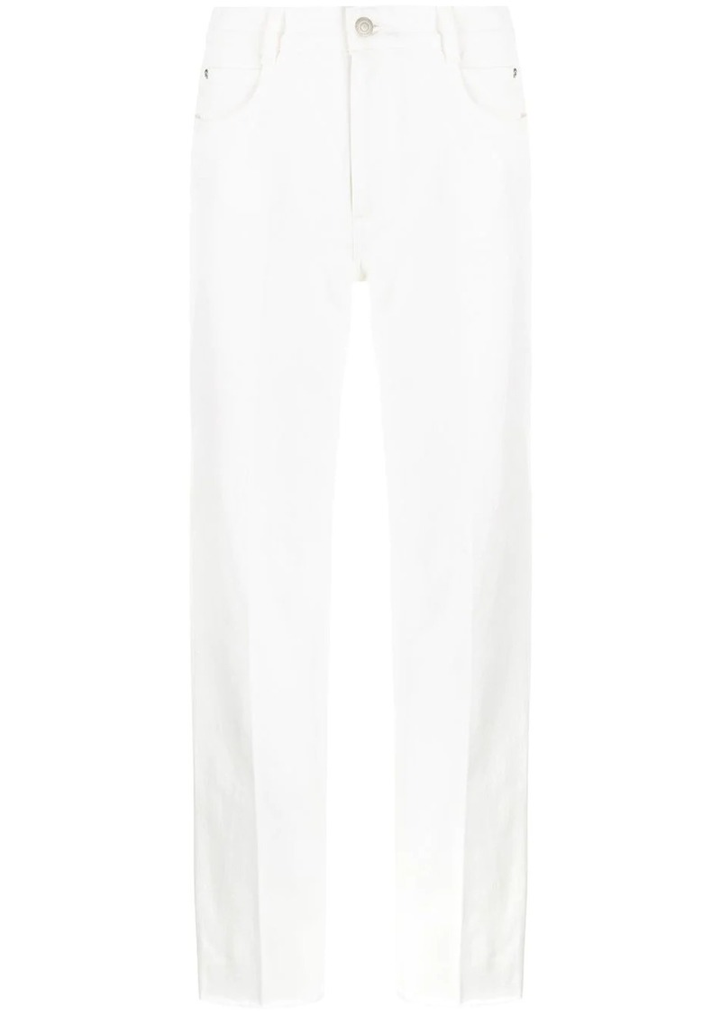 Stella McCartney unfinished hems jeans
