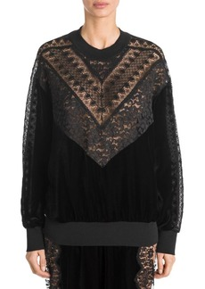 Stella McCartney Velvet and Lace Sweater