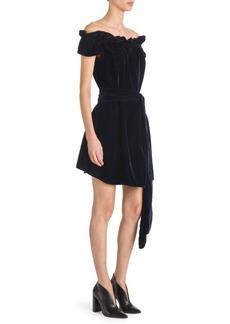 Stella McCartney Velvet Off-The-Shoulder Dress