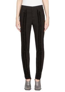 Stella McCartney Velvet-Trimmed Skinny Jeans