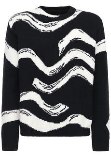 Stella McCartney Waves Intarsia Wool Knit Sweater