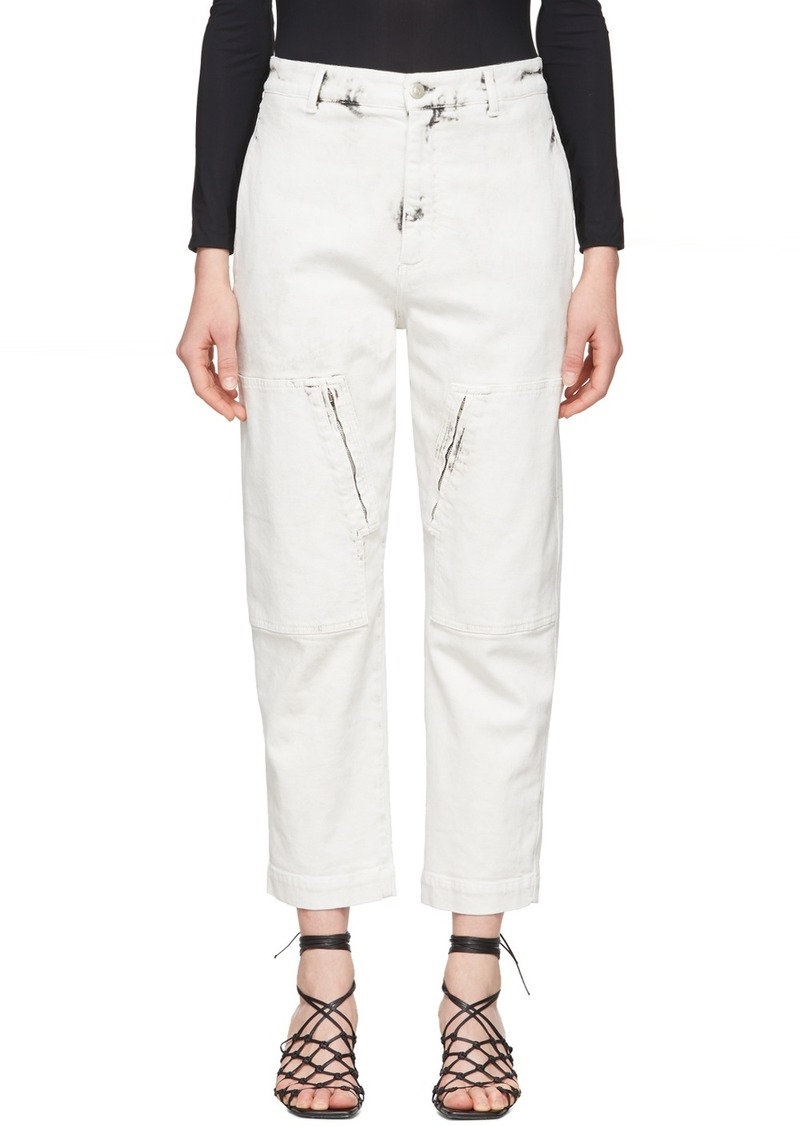 Stella McCartney White Acid Wash Galaxy Jeans