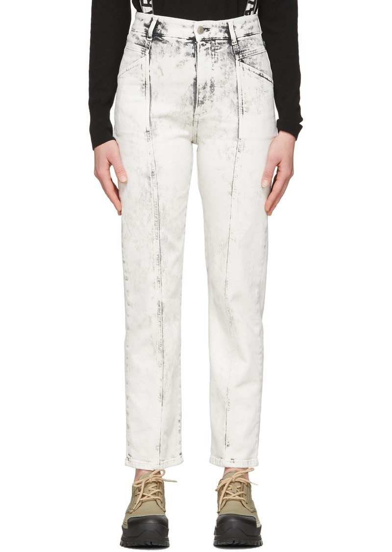 Stella McCartney White Acid Wash Galaxy Seam Front Jeans