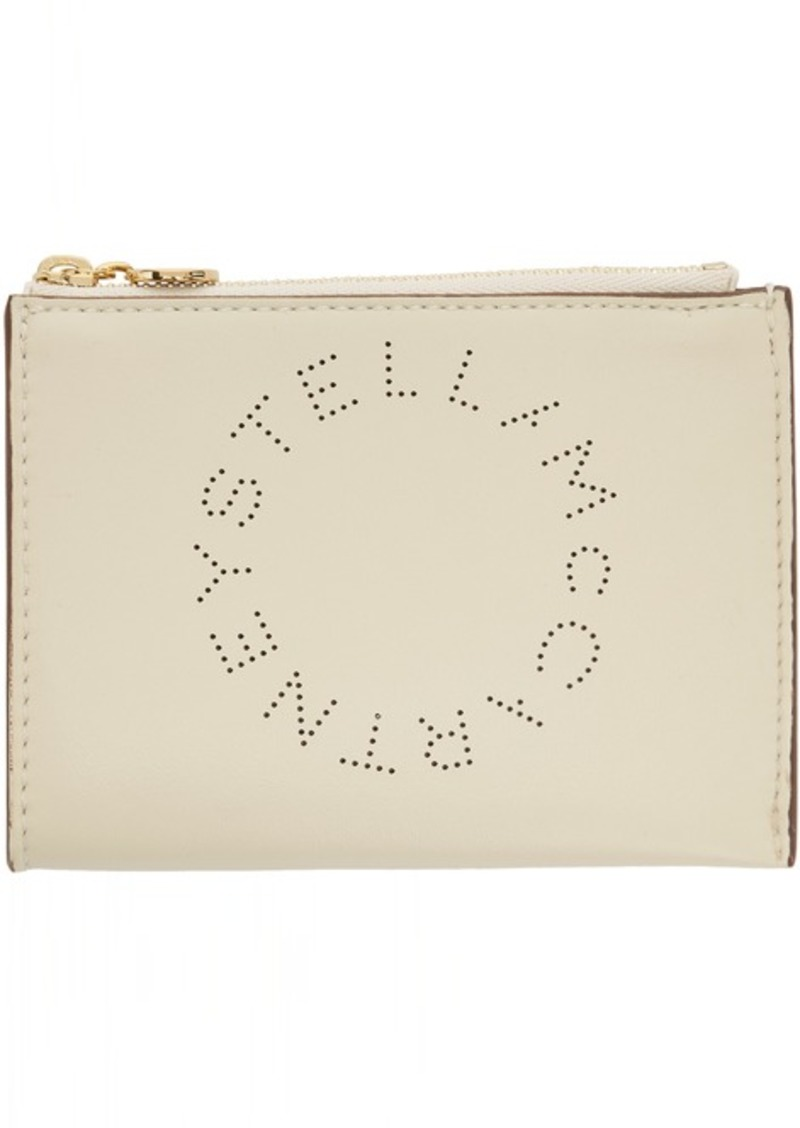 Stella McCartney White Eco Soft Small Logo Pouch