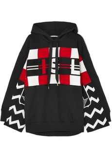 Stella McCartney Wool Intarsia And Cotton-jersey Hoodie