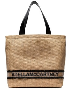Stella McCartney woven logo tote bag