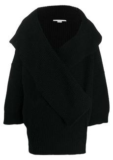 Stella McCartney wrap-front knitted cardi-coat