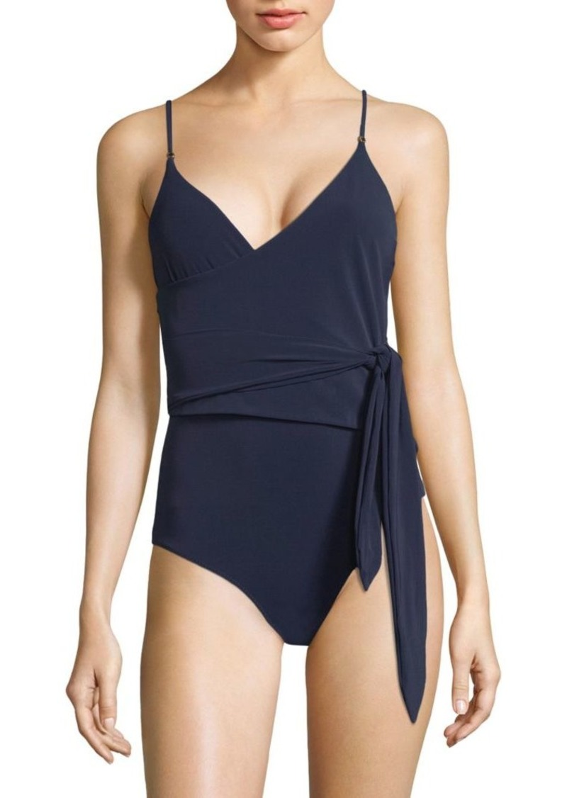 702c4784d7 Stella McCartney Wrap-Tie One-Piece Swimsuit | Swimwear