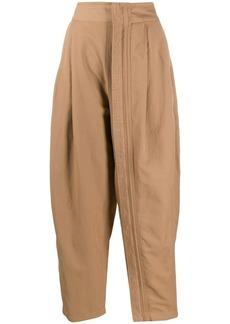 Stella McCartney zipped-layer wide leg trousers