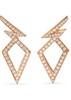 Stephen Webster Lady Stardust 18-karat Rose Gold Diamond Earrings