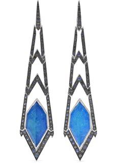 Stephen Webster Lady Stardust 18-karat White Gold Multi-stone Earrings