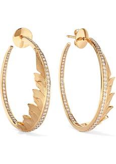 Stephen Webster Magnipheasant 18-karat Gold Diamond Hoop Earrings