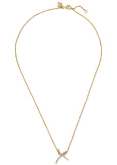 Stephen Webster + Tracey Emin Kiss 18-karat gold diamond necklace