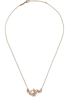 Stephen Webster Fly By Night 18-karat rose gold diamond necklace