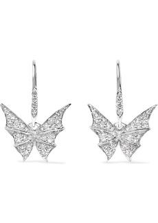 Stephen Webster Fly By Night 18-karat white gold diamond earrings
