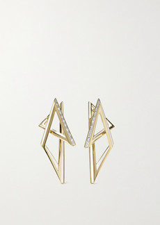 Stephen Webster Vertigo Infinity 18-karat Gold, Diamond And Enamel Earrings