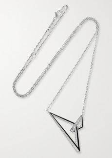 Stephen Webster Vertigo Obtuse 18-karat White Gold, Diamond And Enamel Necklace