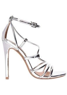 Steve Madden 100mm Smith Metallic Faux Leather Sandal