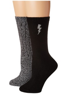 2-Pack Boot Sock Lightning Embroidery