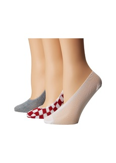 3-Pack Footie Mesh with Check