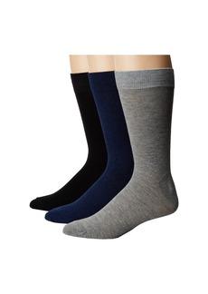 Steve Madden 3-Pack Marl Solid Crew Socks
