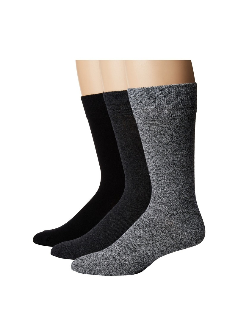 3 Pack Marl Solid Crew Socks