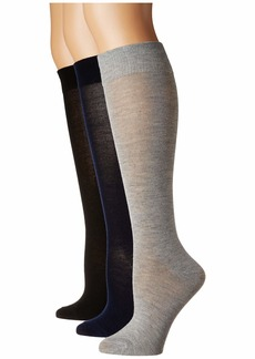 Steve Madden 3-Pack Solid Classic Knee High