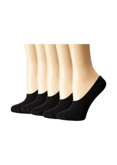 Steve Madden 5-Pack Black Mesh Footie