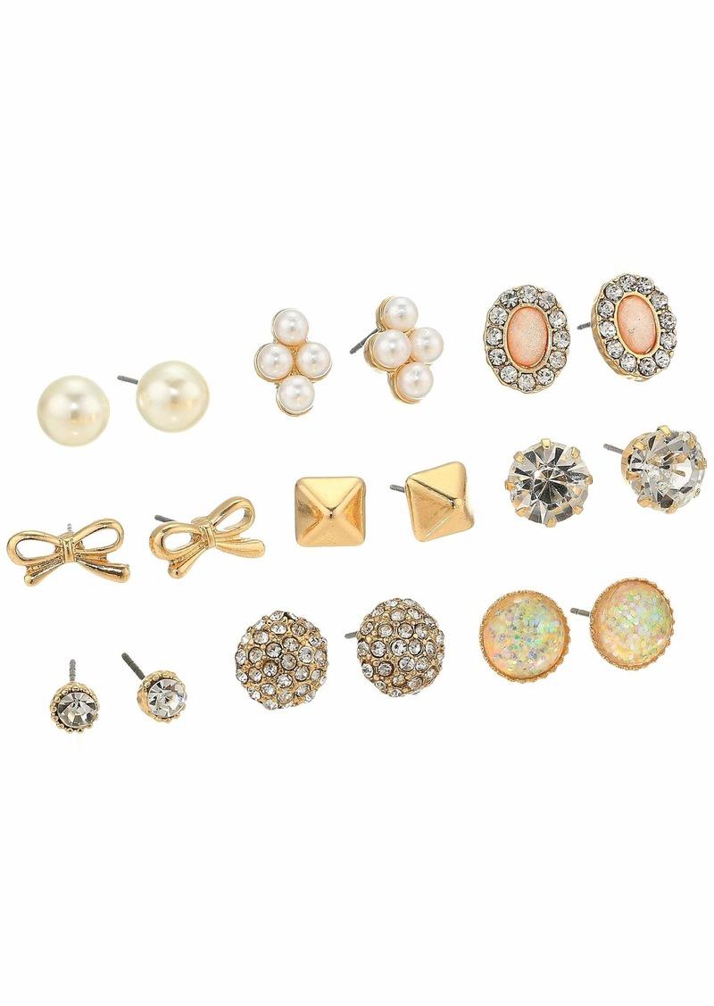 Steve Madden 9-Pair Stud Earrings Set