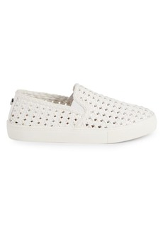 Steve Madden Adly Woven Leather Slip-On Sneakers