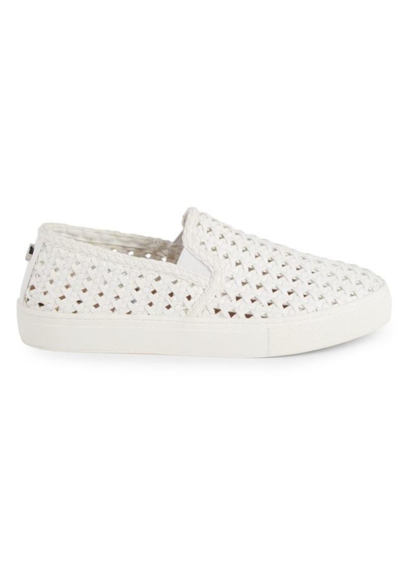Steve Madden Adly Woven Leather Slip-On Sneakers