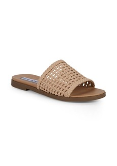 Steve Madden Daelen Basket-Weave Patterned Slides