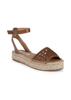 Steve Madden Basketweave Faux Leather Espadrilles