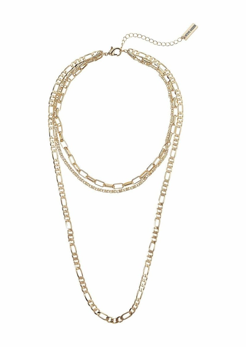 Steve Madden Cable Chain Chain Three-Piece Necklace Set